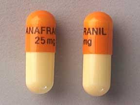 Anafranil Oral ANAFRANIL 25 MG CAPSULE