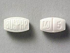 Buspirone Oral BUSPAR 5 MG TABLET