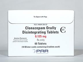 Clonazepam Oral CLONAZEPAM 0.125 MG