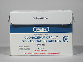 clonazepam 0.5 mg oral tablet