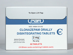 Klonopin Oral CLONAZEPAM 2 MG ODT