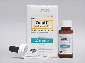 sertraline Oral ZOLOFT 20 MG_ML ORAL CONC